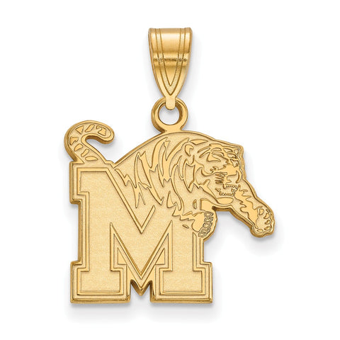 10ky LogoArt University of Memphis Medium Pendant