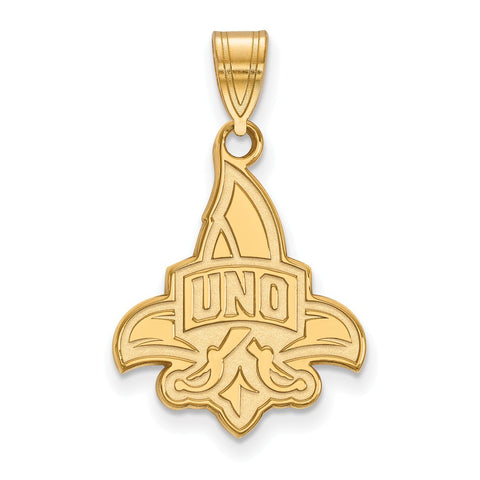 14ky LogoArt University of New Orleans Large Pendant