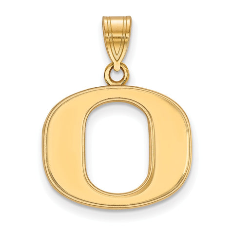 14ky LogoArt University of Oregon Medium Pendant