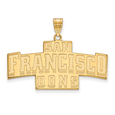 14ky LogoArt University of San Francisco Large Pendant