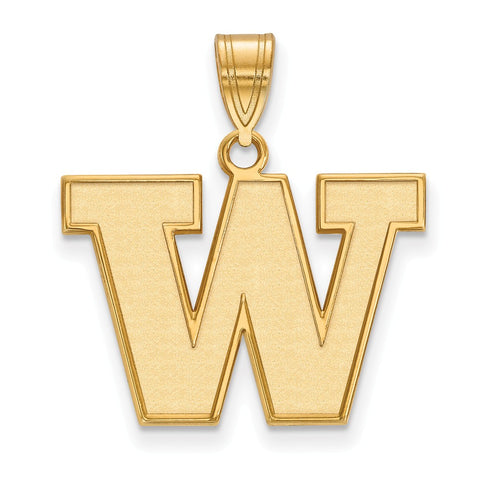 14ky LogoArt University of Washington Medium Pendant