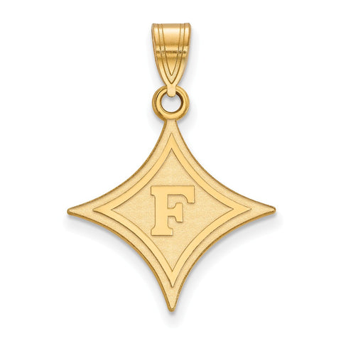 14ky LogoArt Furman University Large Pendant