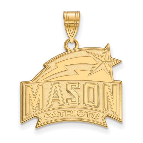 14ky LogoArt George Mason University Large Pendant