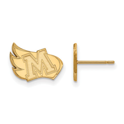 10ky LogoArt Meredith College Small Post Earrings