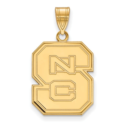 10ky LogoArt North Carolina State University Large Pendant