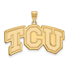 10ky LogoArt Texas Christian University Large Pendant