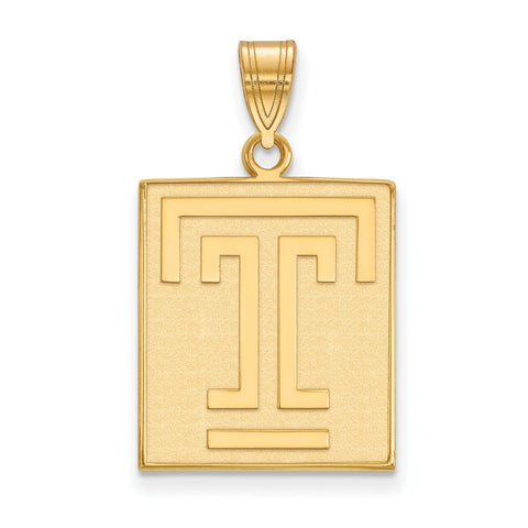 10ky LogoArt Temple University Large Pendant
