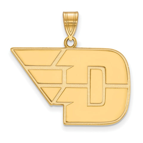 14ky LogoArt University of Dayton Large Pendant