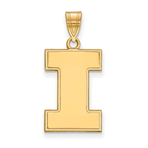 10ky LogoArt University of Illinois Large Pendant