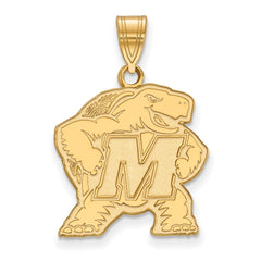 10ky LogoArt University of Maryland Large Pendant