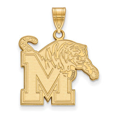 10ky LogoArt University of Memphis Large Pendant