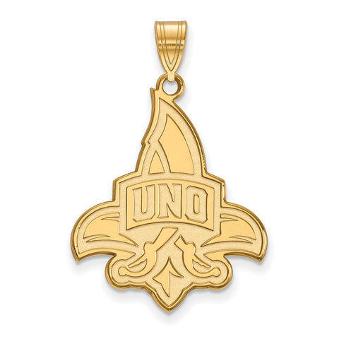10ky LogoArt University of New Orleans XL Pendant
