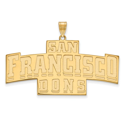 10ky LogoArt University of San Francisco XL Pendant