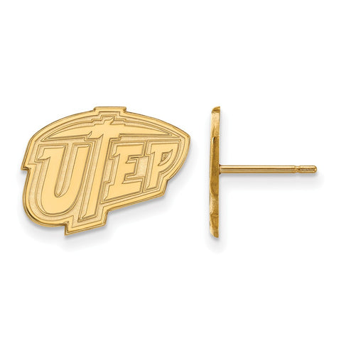 10ky LogoArt The University of Texas at El Paso Small Post Earrings