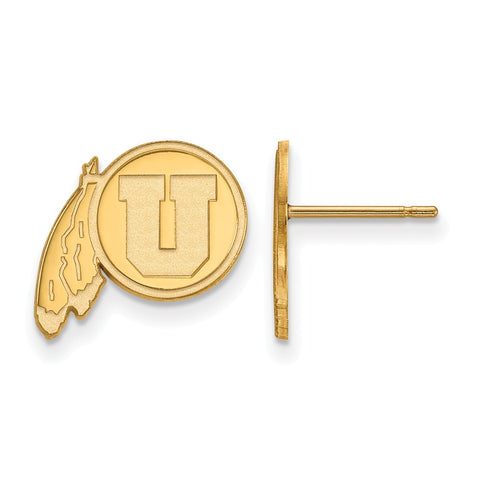 10ky LogoArt University of Utah Small Post Earrings