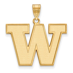 10ky LogoArt University of Washington Large Pendant