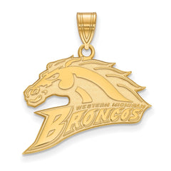 14ky LogoArt Western Michigan University Large Pendant