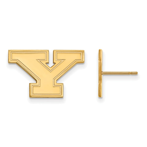 10K Yellow Gold Logoart Youngstown State University Penguins Small Post Earrings