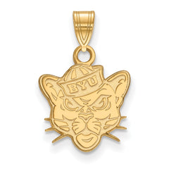 14ky LogoArt Brigham Young University Small Pendant