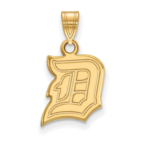 14k Yellow Gold Logoart Duquesne University Dukes Small Pendant