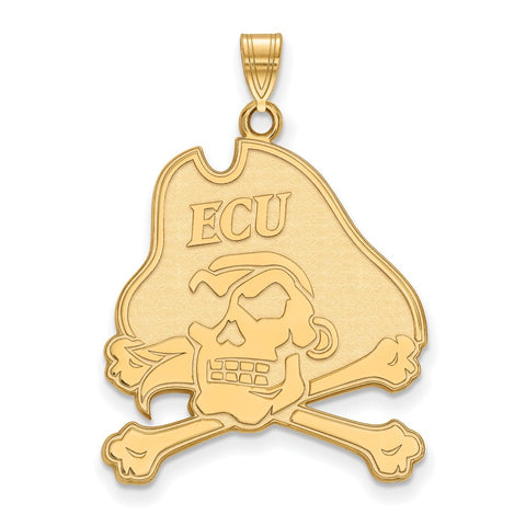 10ky LogoArt East Carolina University XL Pendant