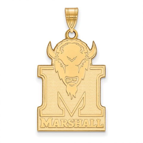 10ky LogoArt Marshall University XL Pendant