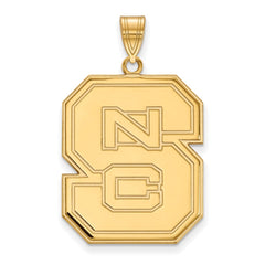 10ky LogoArt North Carolina State University XL Pendant