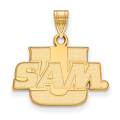 Sterling Silver w/GP LogoArt Samford University Small Pendant