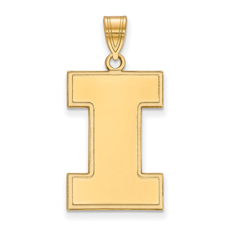 10ky LogoArt University of Illinois XL Pendant