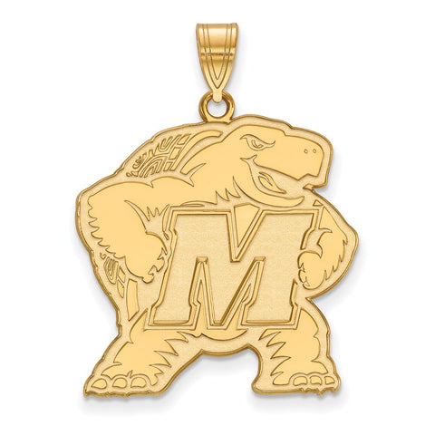 10ky LogoArt University of Maryland XL Pendant