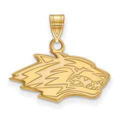 14ky LogoArt University of New Mexico Small Pendant