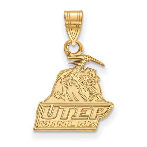 14ky LogoArt The University of Texas at El Paso Small Pendant