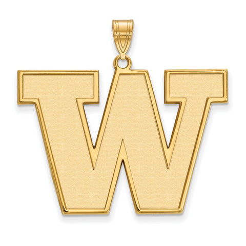 10ky LogoArt University of Washington XL Pendant