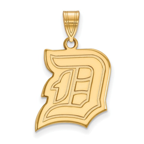 14k Yellow Gold Logoart Duquesne University Dukes Large Pendant