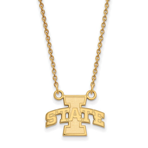 10ky LogoArt Iowa State University Small Pendant w/Necklace