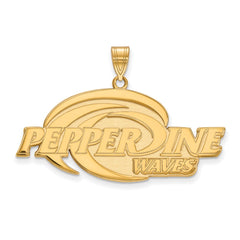 Sterling Silver w/GP LogoArt Pepperdine University XL Pendant