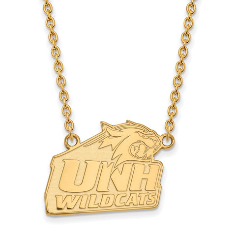 10ky LogoArt University of New Hampshire Large Pendant w/Necklace
