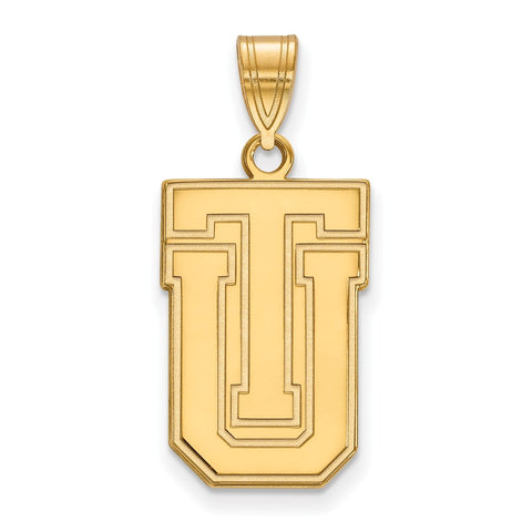 Sterling Silver w/GP LogoArt The University of Tulsa Large Pendant