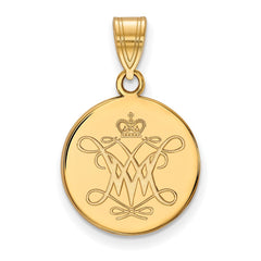 10ky LogoArt William And Mary Medium Disc Pendant