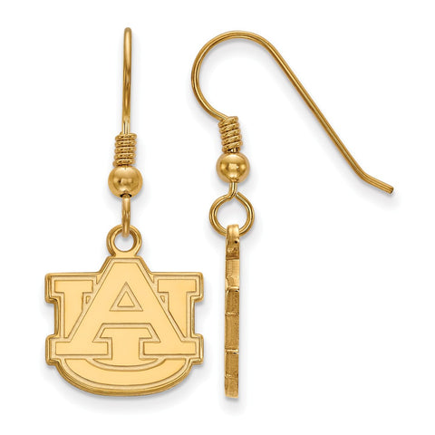 Sterling Silver w/GP LogoArt Auburn University Small Dangle Earrings