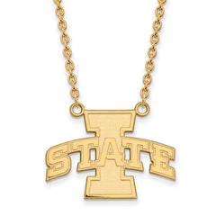 10ky LogoArt Iowa State University Large Pendant w/Necklace