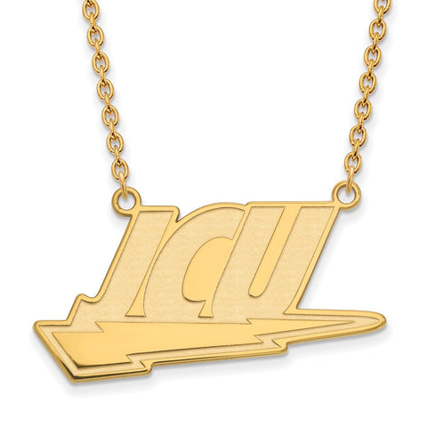 14ky LogoArt John Carroll University Large Pendant w/Necklace