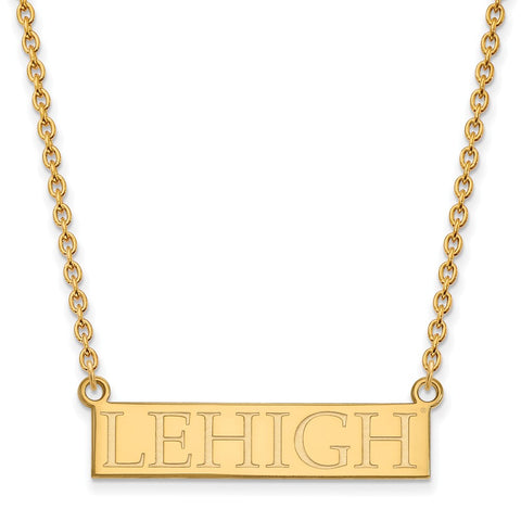 10ky LogoArt Lehigh University Large Pendant w/Necklace