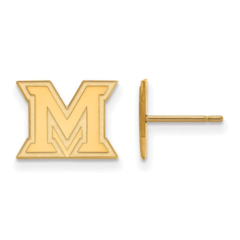 10ky LogoArt Miami University XS Post Earrings