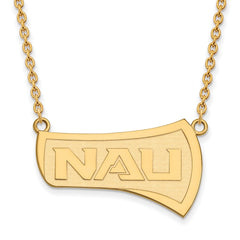 14ky LogoArt Northern Arizona University Large Pendant w/Necklace