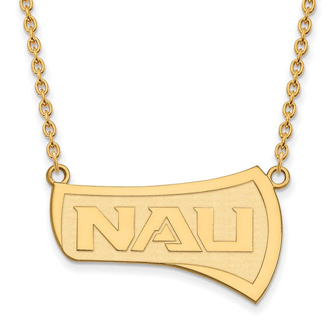 10ky LogoArt Northern Arizona University Large Pendant w/Necklace