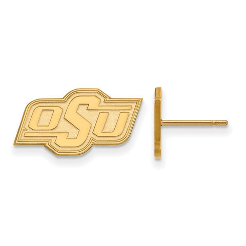 10ky LogoArt Oklahoma State University XS Post Earrings