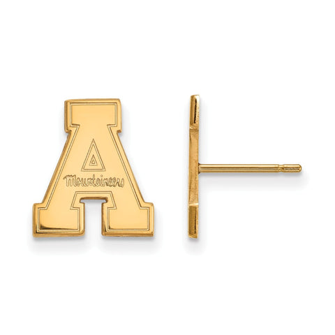 10ky LogoArt Appalachian State University Small Post Earrings