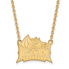 10ky LogoArt Drexel University Large Pendant w/Necklace