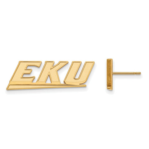 10ky LogoArt Eastern Kentucky University Small Post Earrings